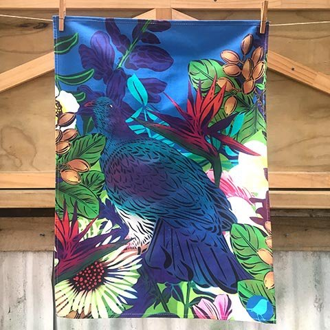 Flox Kereru Tea Towel