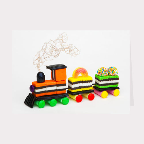 Golly Gosh Floral Gift Card - Liquorice Allsorts Train