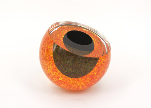 Glass 'Geode' in Orange