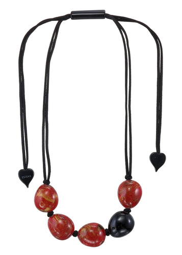 Zsiska Black & Red Natura Necklace