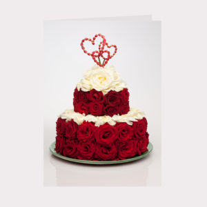 Golly Gosh Floral Gift Card - Red Rose Cake