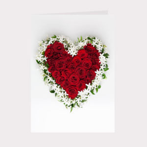 Golly Gosh Floral Gift Card - Red Rose Heart 1
