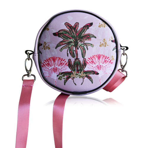 Limited Edition Round Palm Hills Pink Bag
