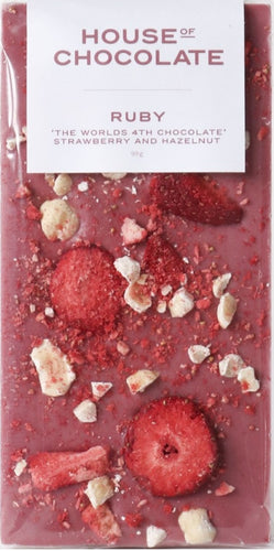 RUBY Freeze Dried Strawberry and Hazelnut Chocolate Bar