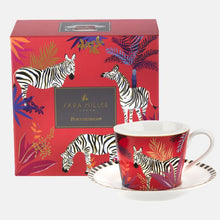 Load image into Gallery viewer, Zebra Teacup and Saucer Set