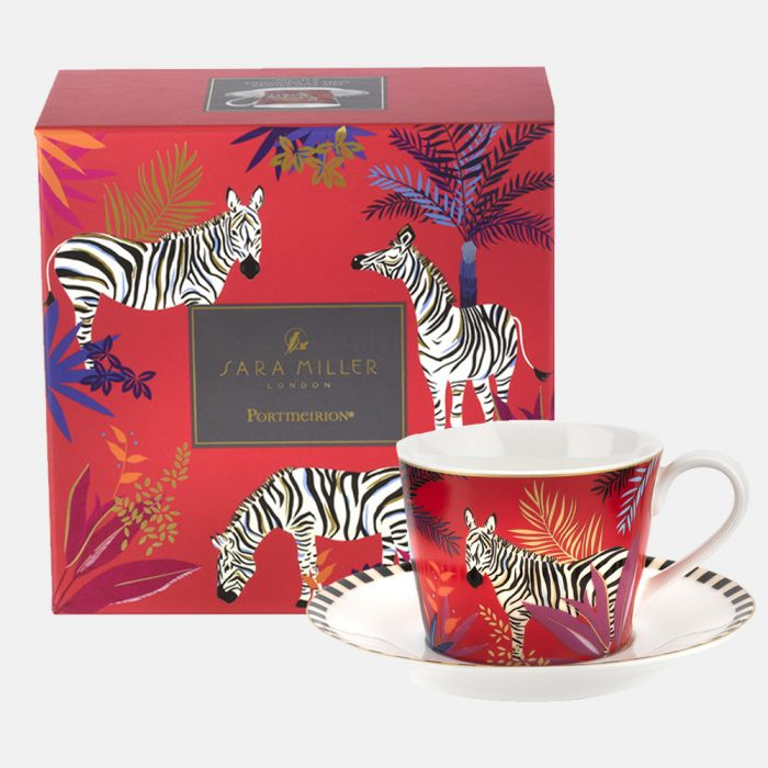 Zebra Teacup and Saucer Set