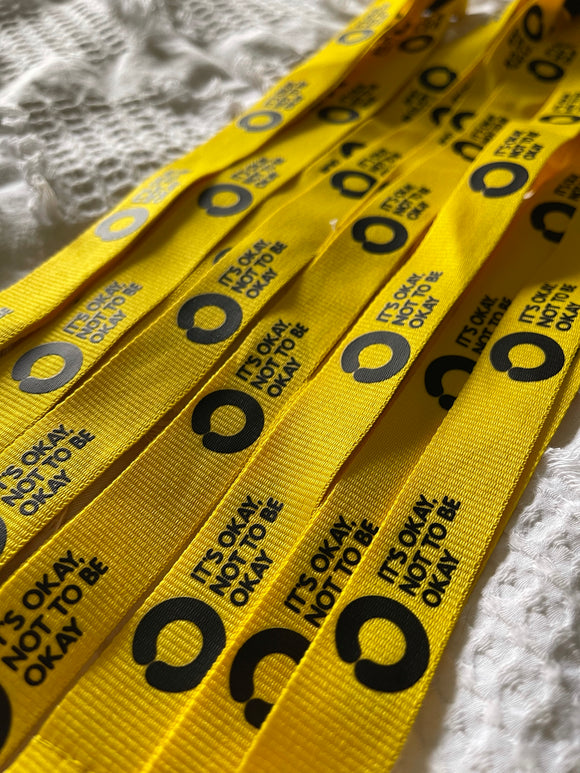 Yellow Lanyard with Saftey Clip