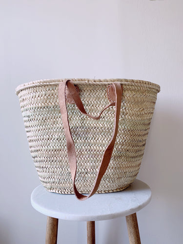 Double strap French market bag
