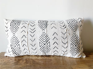 Mud Cloth Lumbar Pillow