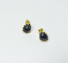 Sapphire & Gold-plated Silver Earrings JLC