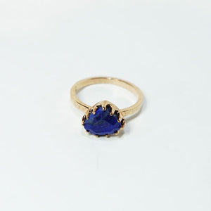 Lapis & Rose Gold-plated Silver Ring JLC