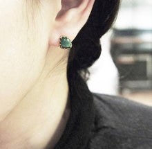 Green Malachite & Gold-plated Silver Earrings JLC