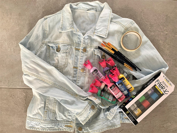 how to paint a denim jacket