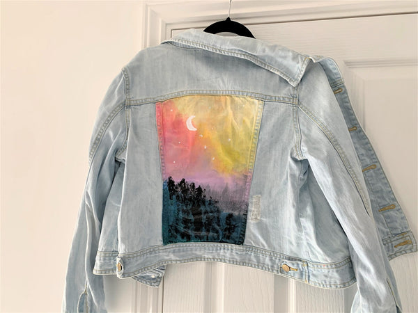 painted jean jacket