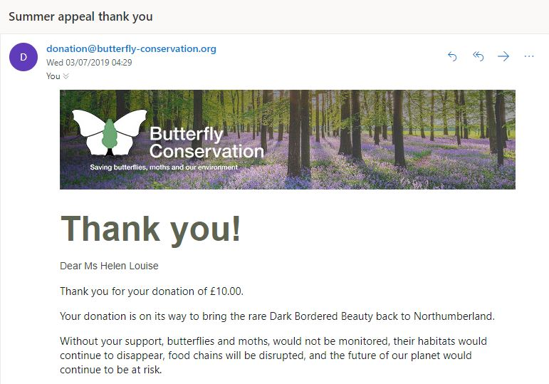 June butterfly donation