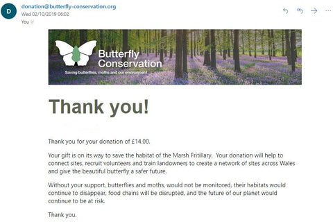 Butterfly donation