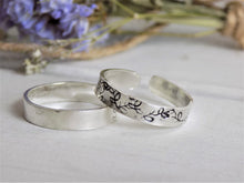 Load image into Gallery viewer, Botanical band ring [Made to Order]