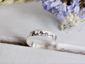 Botanical band ring [Made to Order]