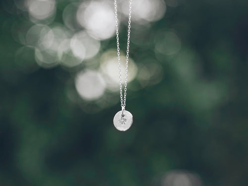 North star sterling silver necklace [Made to order]