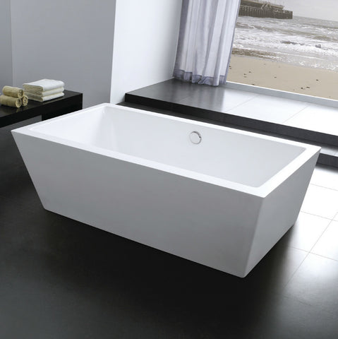 "Image of Moreno Bath Lucy 67"" Square Drop in Bathtub"
