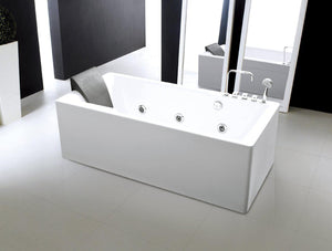 Moreno Bath 67'' Jacuzzi Massage Bathtub