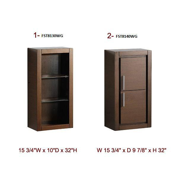 Fresca Cielo 23.5 Inch Wenge Brown Modern Bathroom Vanity w/ Mirror