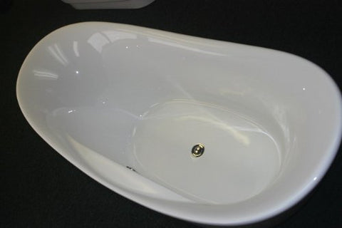 Image of Moreno Bath Lucy 67″ Moon-Shaped Drop in Tub