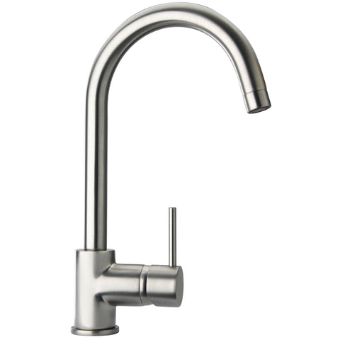 LaToscana Elba single hole lavatory faucet with two handles in Brushed Nickel