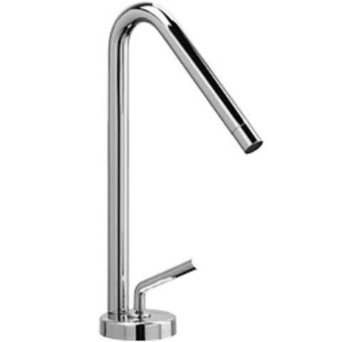 LaToscana Morellino single lever handle faucet with a rotating spout in Chrome