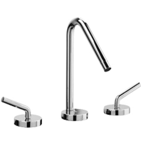 LaToscana Morellino widespread faucet with lever handles and a rotating spout in Chrome