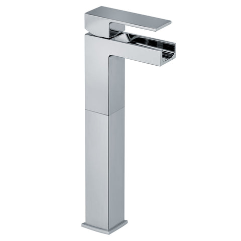LaToscana Dax waterfall single handle vessel filler in Chrome