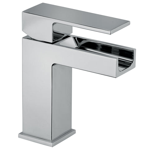 LaToscana Dax waterfall single handle lavatory faucet in Chrome