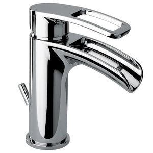 LaToscana Ovo small waterfall single handle lavatory faucet in Chrome