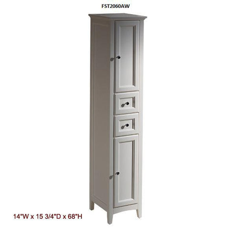 "Image of Fresca Oxford 30"" Antique White Traditional Bathroom Vanity"