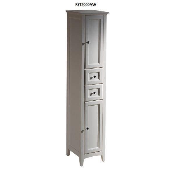 "Fresca Oxford 24"" Antique White Traditional Bathroom Vanity - Bathroom Vanity Portal"