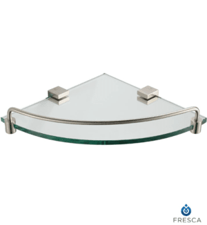 Fresca Ottimo Corner Glass Shelf - Brushed Nickel