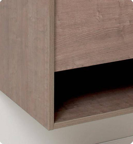 Image of Fresca Potenza Gray Oak Modern Bathroom Vanity w/ Pop Open Drawer - Bathroom Vanity Portal
