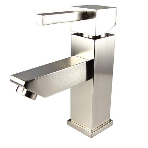 Image of Fresca Versa Single Hole Mount Bathroom Vanity Faucet - Brushed Nickel