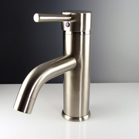 Image of Fresca Sillaro Single Hole Mount Bathroom Vanity Faucet - Brushed Nickel