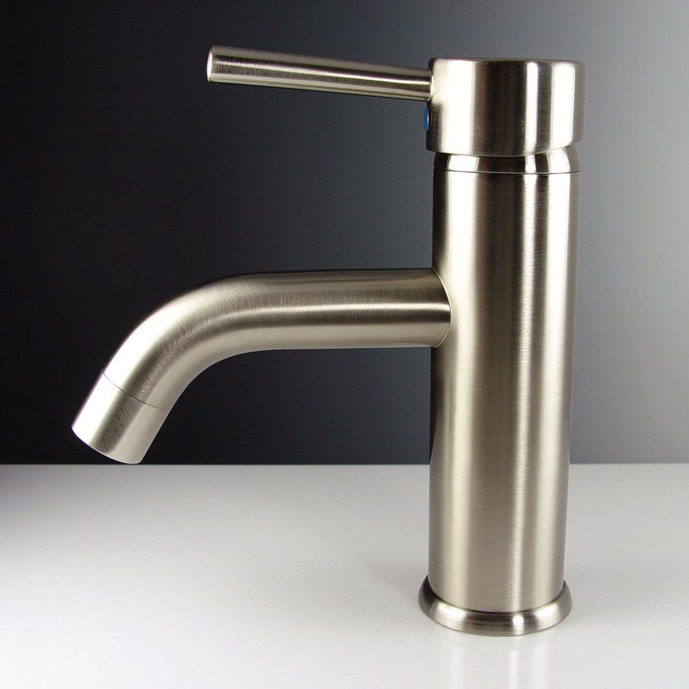 Fresca Sillaro Single Hole Mount Bathroom Vanity Faucet - Brushed Nickel