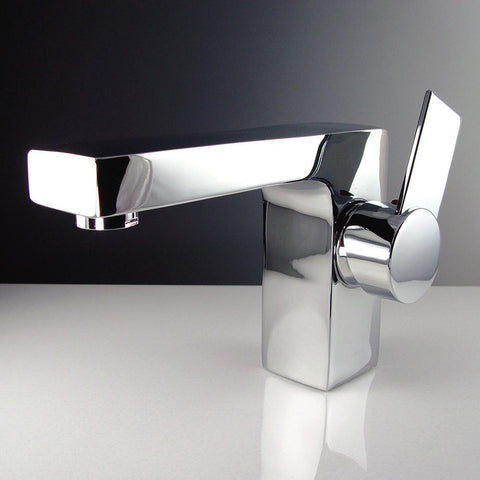 Image of Fresca Isarus Single Hole Mount Bathroom Vanity Faucet - Chrome