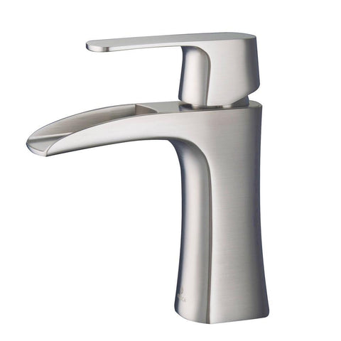 Image of Fresca Fortore Single Hole Mount Bathroom Vanity Faucet - Brushed Nickel