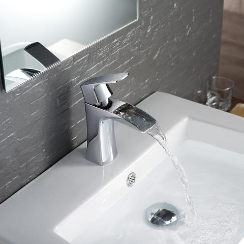 Fresca Fortore Single Hole Mount Bathroom Vanity Faucet - Chrome