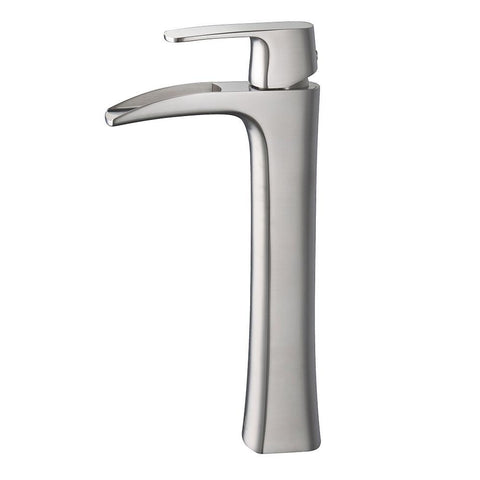 Fresca Fortore Single Hole Vessel Mount Bathroom Vanity Faucet - Brushed Nickel
