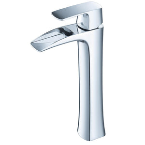 Fresca Fortore Single Hole Vessel Mount Bathroom Vanity Faucet - Chrome