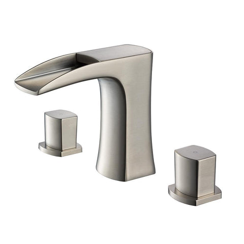 Fresca Fortore Widespread Mount Bathroom Vanity Faucet - Brushed Nickel