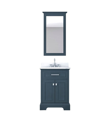 Furnishmore  Pittsburgh 25 in Single Bathroom Vanity in Gray with Mirror