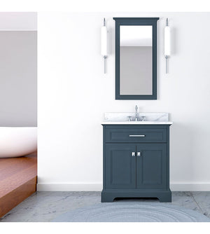 Furnishmore Pittsburgh 31 in Single Bathroom Vanity in Gray with Mirror