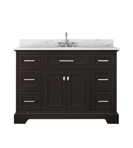 Image of Furnishmore  Pittsburgh 49 in Single Bathroom Vanity in Espresso with Mirror