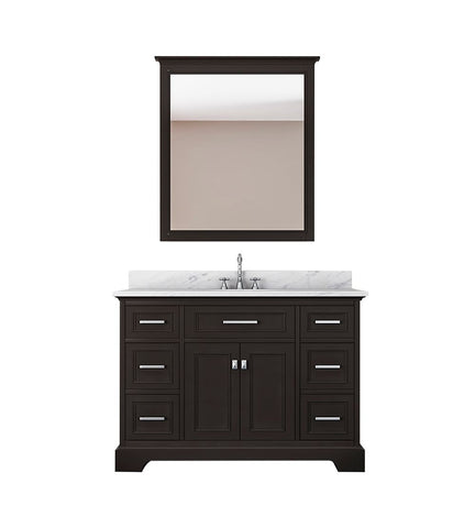 Furnishmore  Pittsburgh 49 in Single Bathroom Vanity in Espresso with Mirror